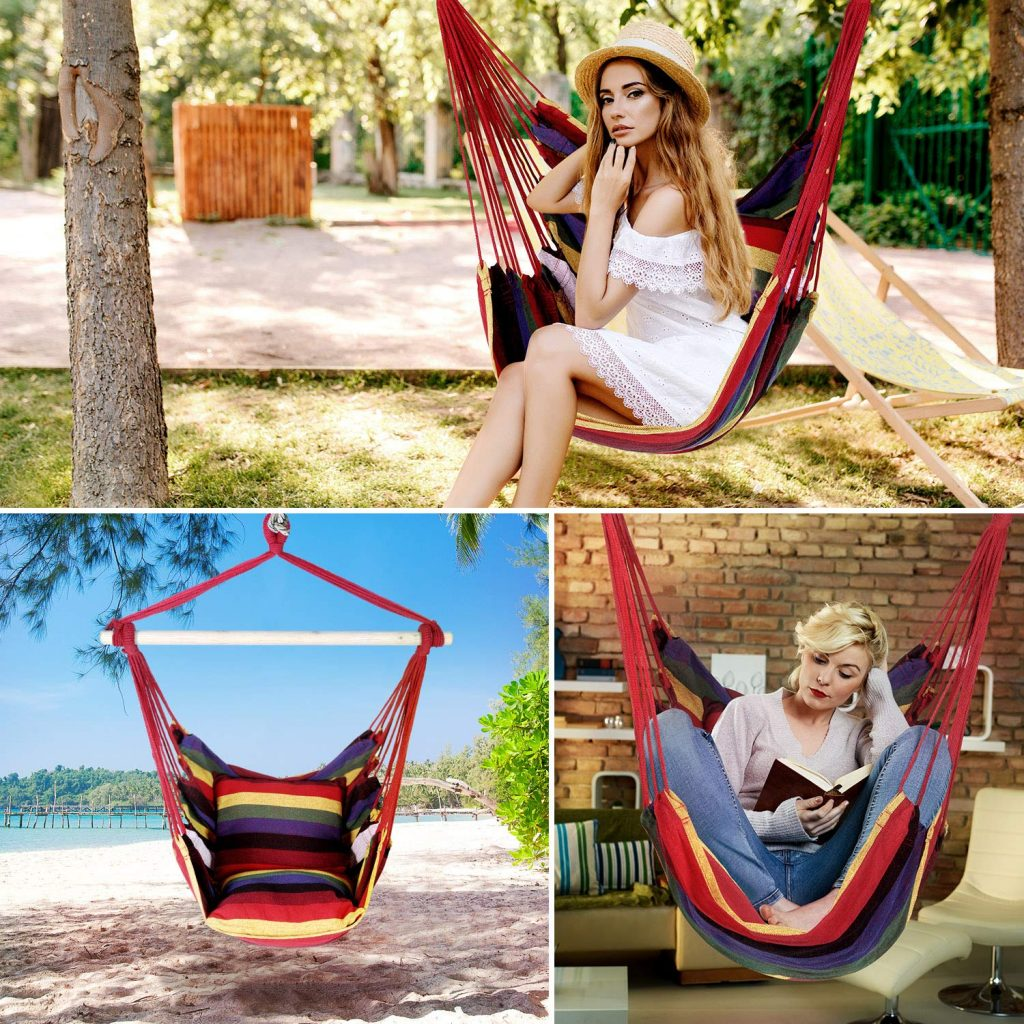 hamacas colgantes para jardín, sillas colgantes para jardín, Hamaca silla económicas